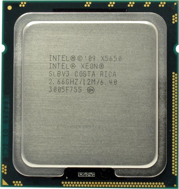 Intel Xeon Processor X5650, вид сверху