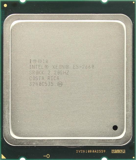 INTEL Xeon Processor E5-2660, вид сверху