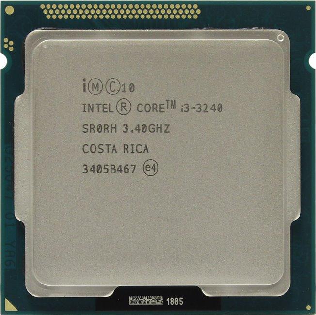 INTEL Core i3-3240 Processor, вид сверху