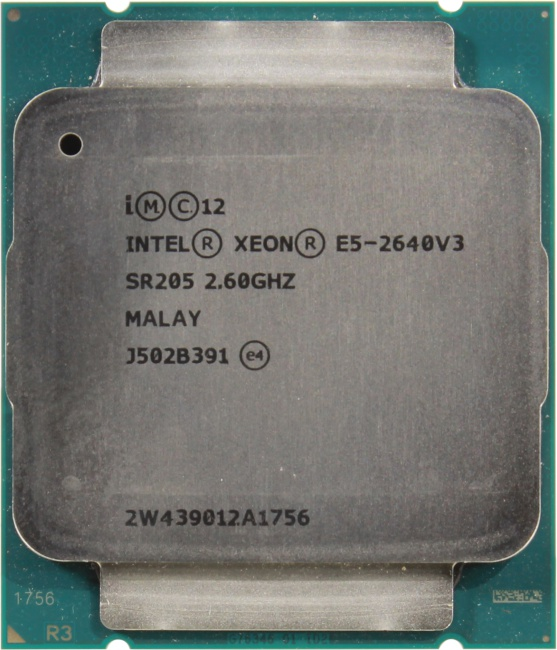INTEL Xeon Processor E5-2640 v3, вид сверху