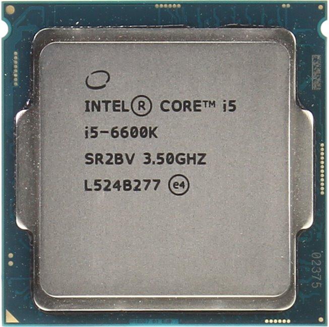 INTEL Core i5 6-го поколения Core i5-6600K Processor, вид сверху