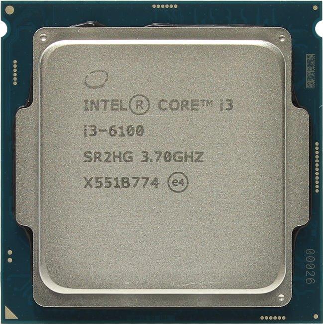 INTEL Core i3 6-го поколения Core i3-6100 Processor, вид сверху