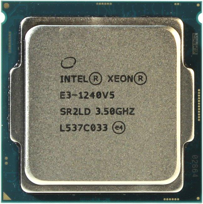 INTEL Xeon Processor E3-1240 v5, вид сверху