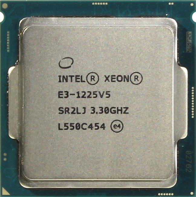 INTEL Xeon Processor E3-1225 v5, вид сверху
