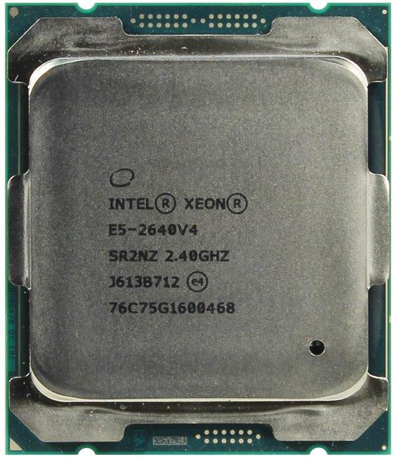 INTEL Xeon Processor E5-2640 v4, вид сверху