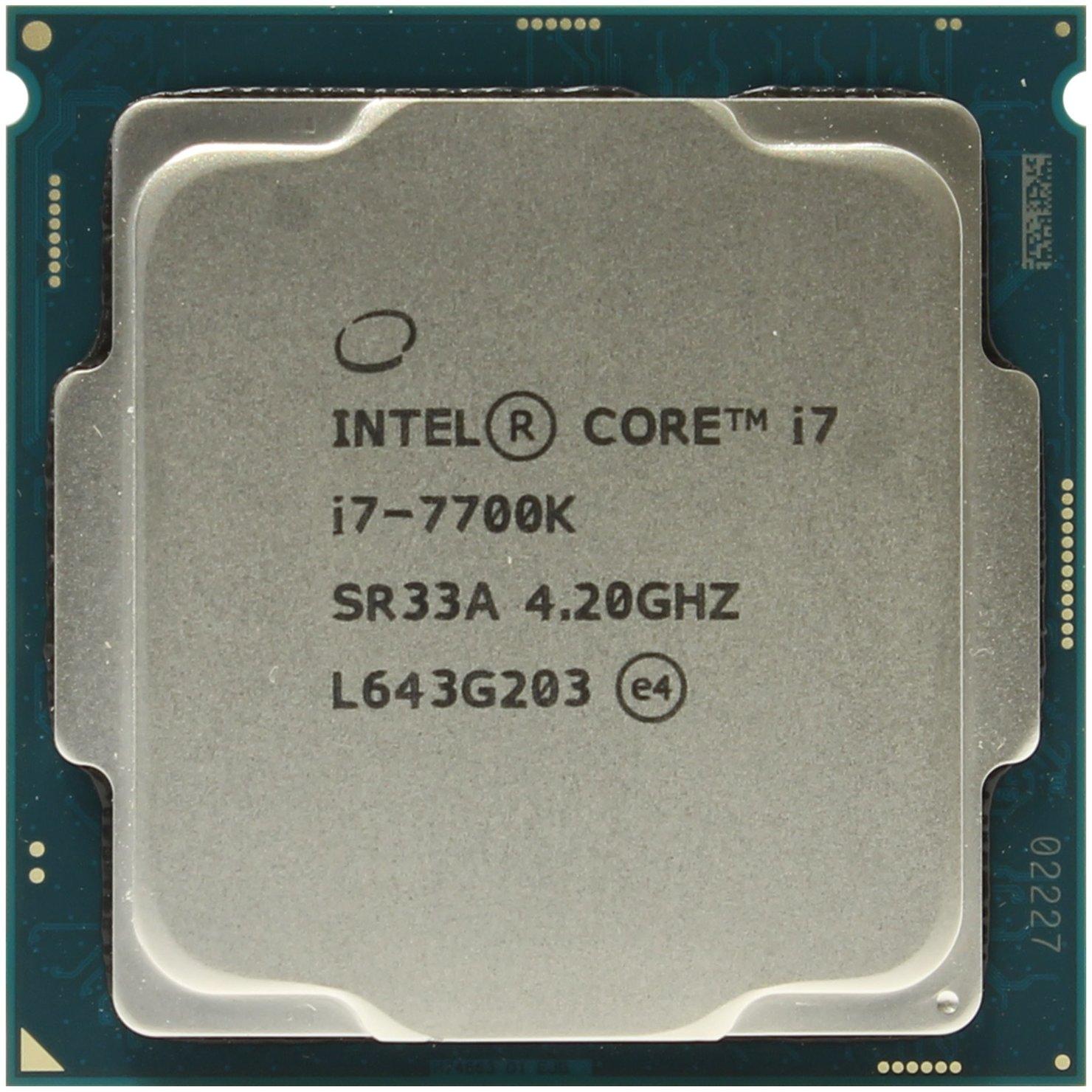 Intel Core I7 7700k Processor Box