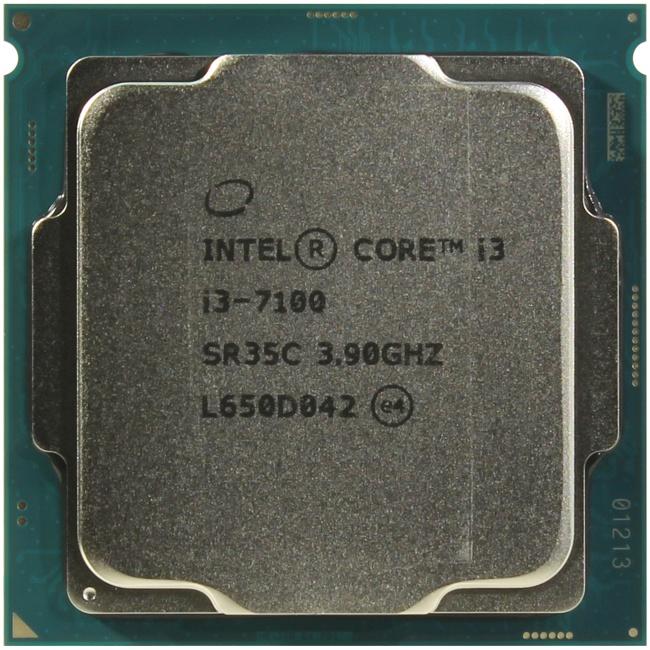 INTEL Core i3 7-го поколения Core i3-7100 Processor, вид сверху