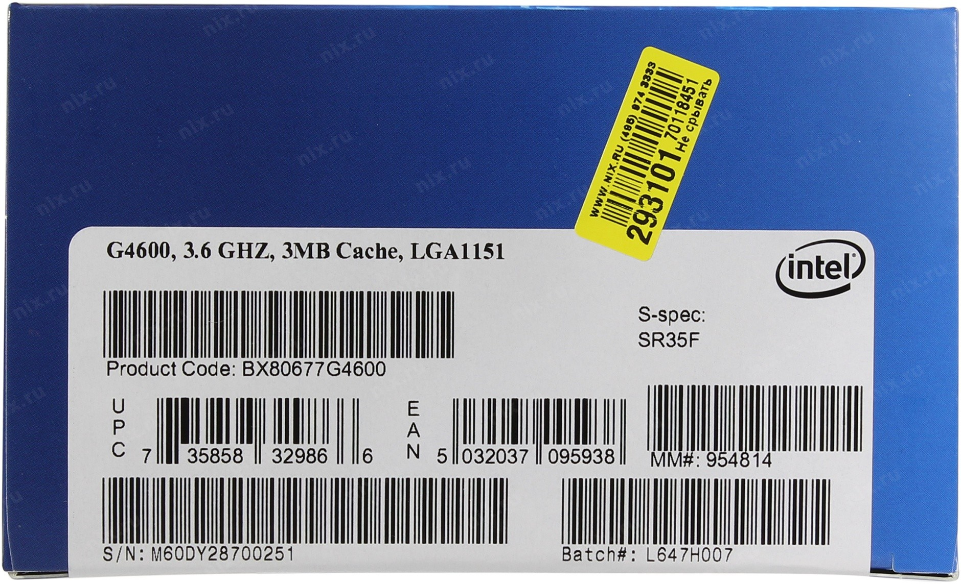 Intel Pentium Processor G4600 Box 36ghz Kabylake Socket 1151