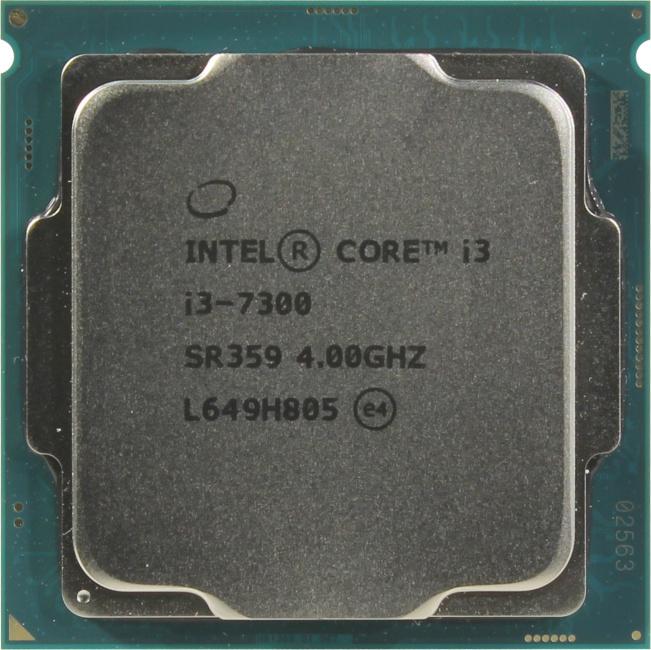 INTEL Core i3 7-го поколения Core i3-7300 Processor, вид сверху