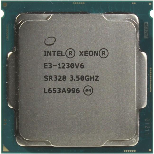 INTEL Xeon Processor E3-1230 v6, вид сверху
