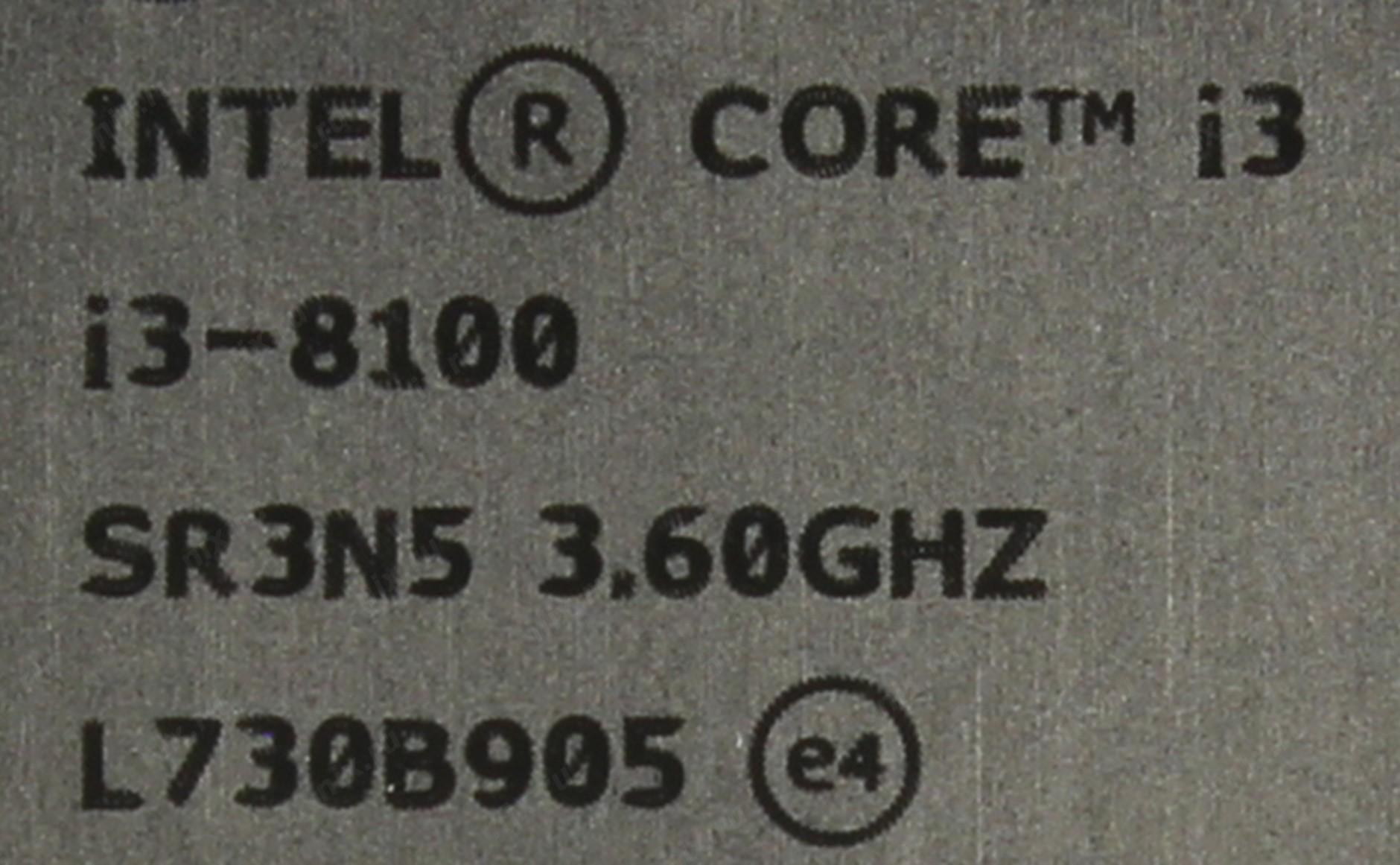 Intel Core I3 8100 Processor Oem Cofeelake Series