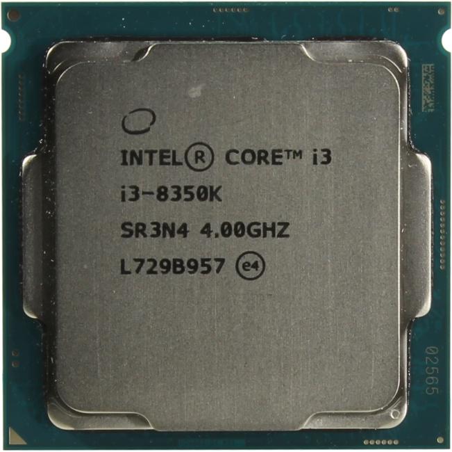 INTEL Core i3 8-го поколения Core i3-8350K Processor, вид сверху