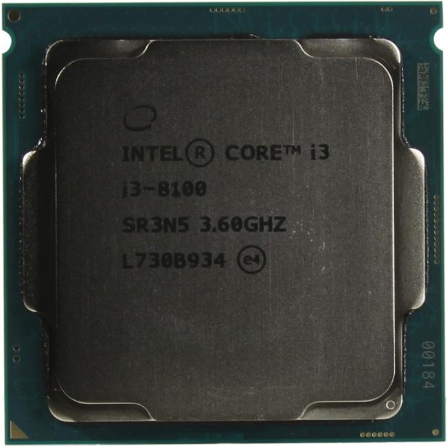 INTEL Core i3 8-го поколения Core i3-8100 Processor, вид сверху