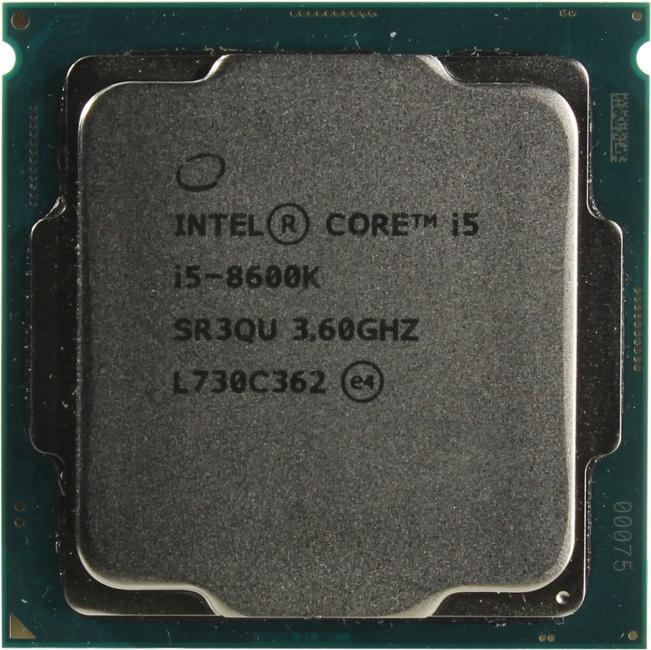 INTEL Core i5 8-го поколения Core i5-8600K Processor, вид сверху