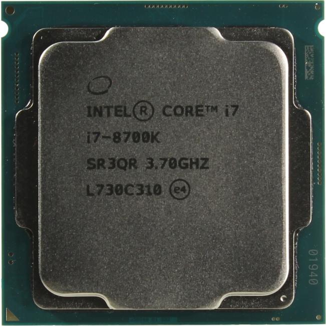 INTEL Core i7-8700K Processor, вид сверху