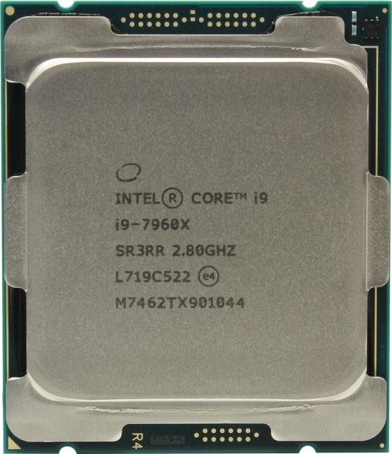 INTEL Core i9 7-го поколения Core i9-7960X Processor, вид сверху