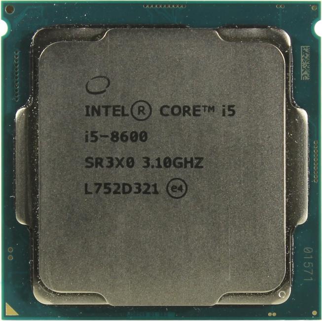 INTEL Core i5 8-го поколения Core i5-8600 Processor, вид сверху