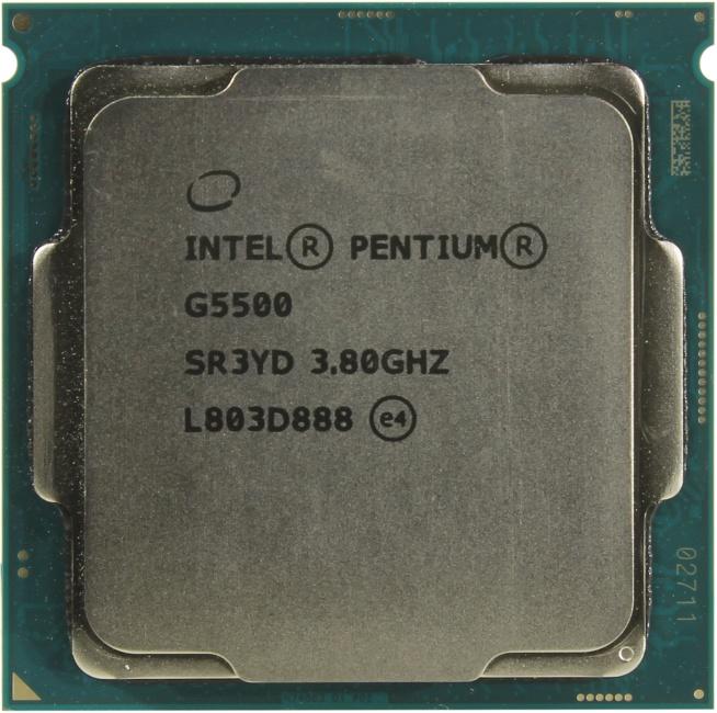 INTEL Pentium Gold Processor Series Pentium Gold G5500 Processor, вид сверху