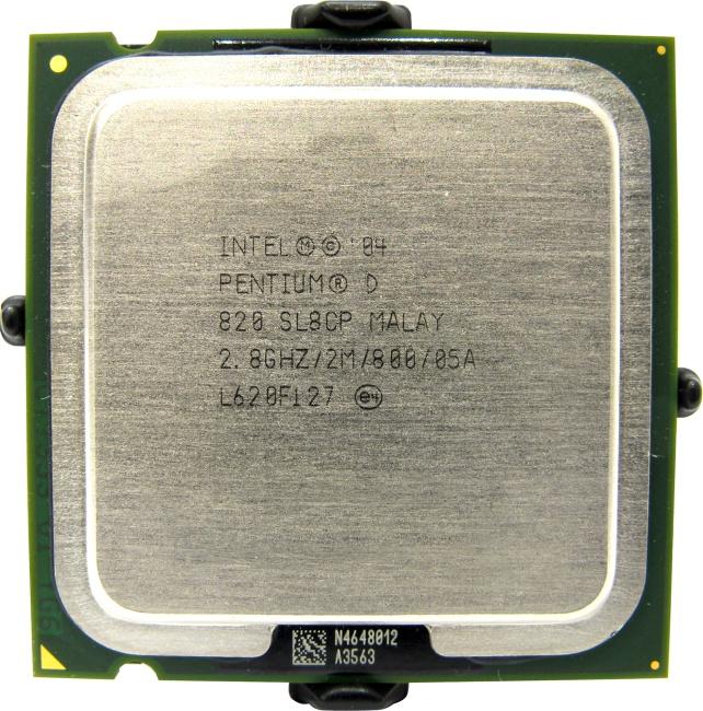 Intel Pentium D 820, вид сверху
