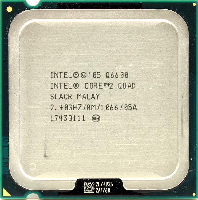 Intel Core 2 Quad Processor Q6600, вид сверху