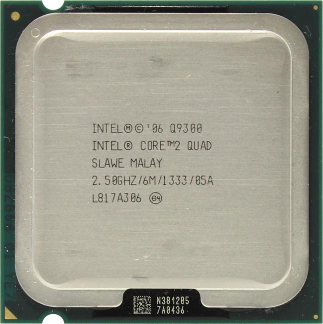 Intel Core 2 Quad Processor Q9300, вид сверху