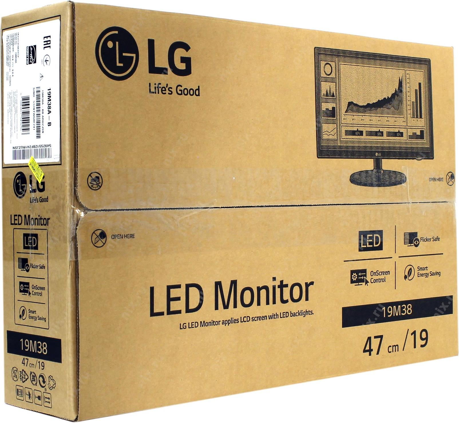 Lg 19m38a B Monitor Led 19m38 185 Wide Screen