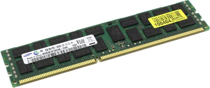 Original SAMSUNG DDR3 RDIMM 8Gb < PC3-10600 > ECC Registered+PLL, вид основной