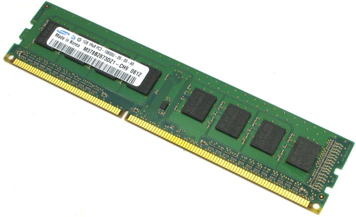 Original SAMSUNG DDR3 DIMM 1Gb < PC3-10600 >, вид основной