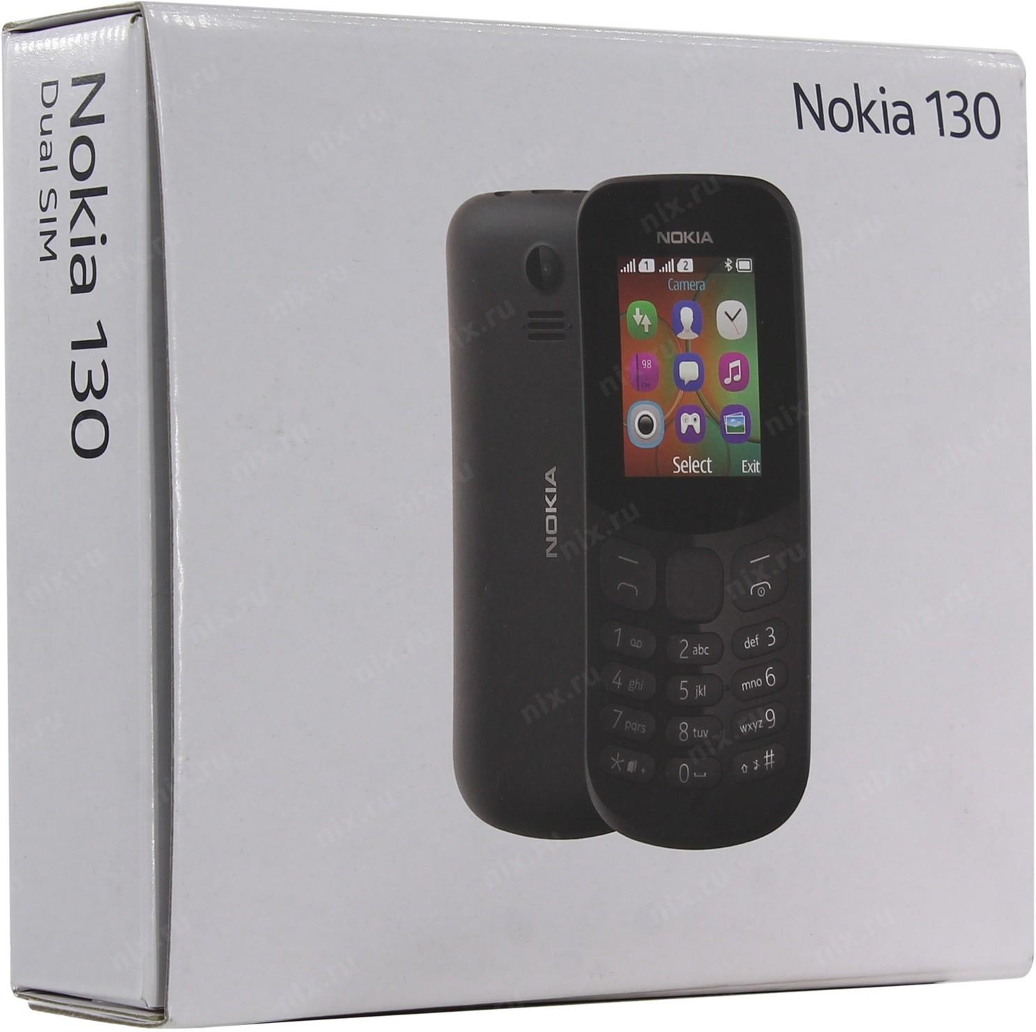 f7514b96d35 Телефон Nokia 130 Dual SIM Black (TA-1017) — купить