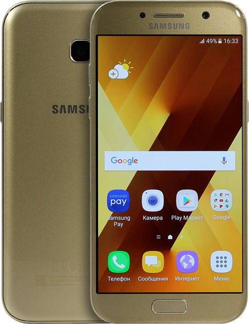 Сотовый телефон samsung sm-a520f galaxy a5 2017 black купить телефон apple iphone 6s 32gb space gray 4.0