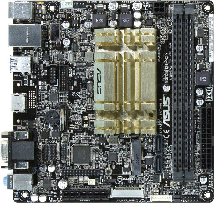 ASUS N3050I-C, вид сверху