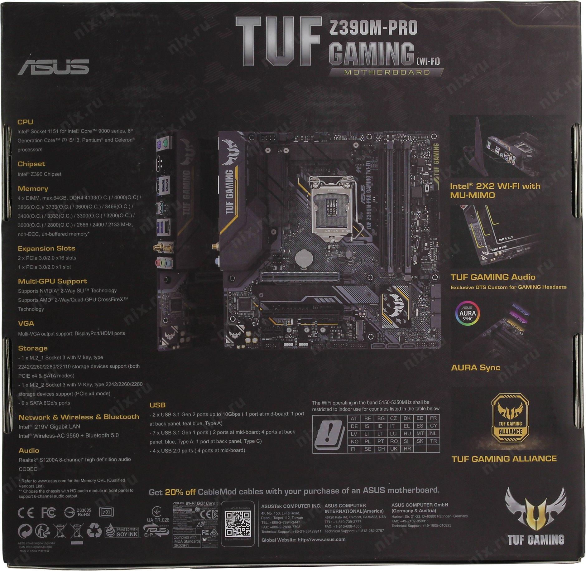 TUF Z390M-PRO GAMING WI-FI