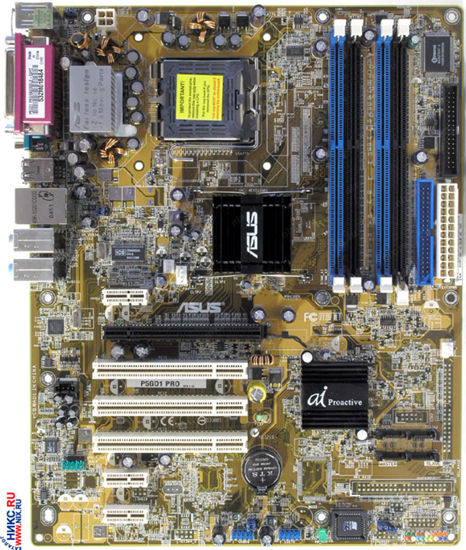 Motherboard ASUS P5GD1 PRO: review, features and reviews 80