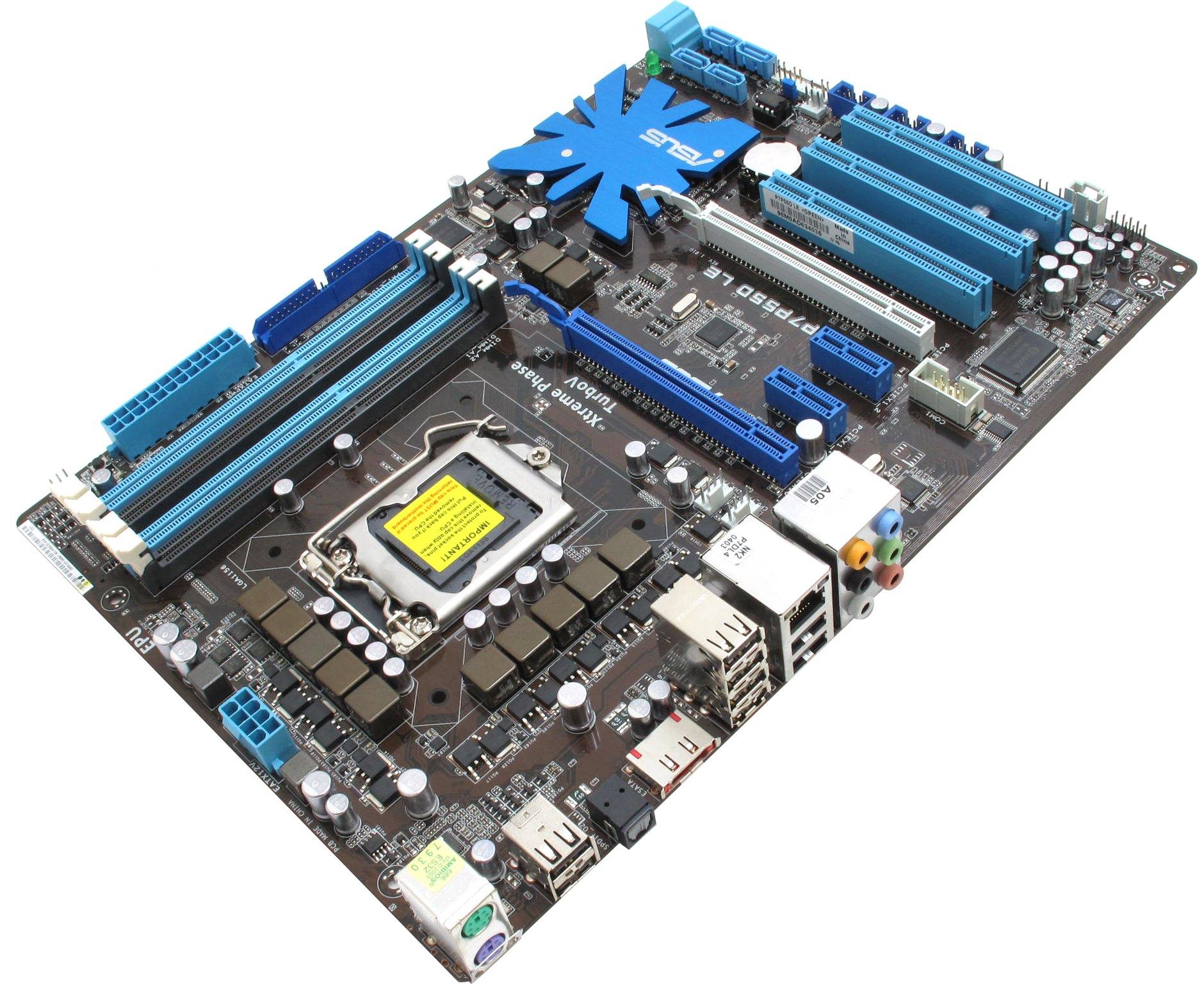 M/B ASUS P7P55D LE (RTL) LGA1156 P55 2xPCI-E+GbLAN SATA RAID ATX 4DDR-III
