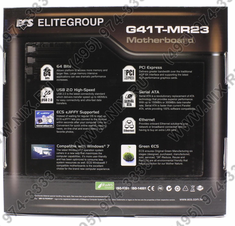 ECS G41T-MR23 (V1.0) DRIVERS WINDOWS 7