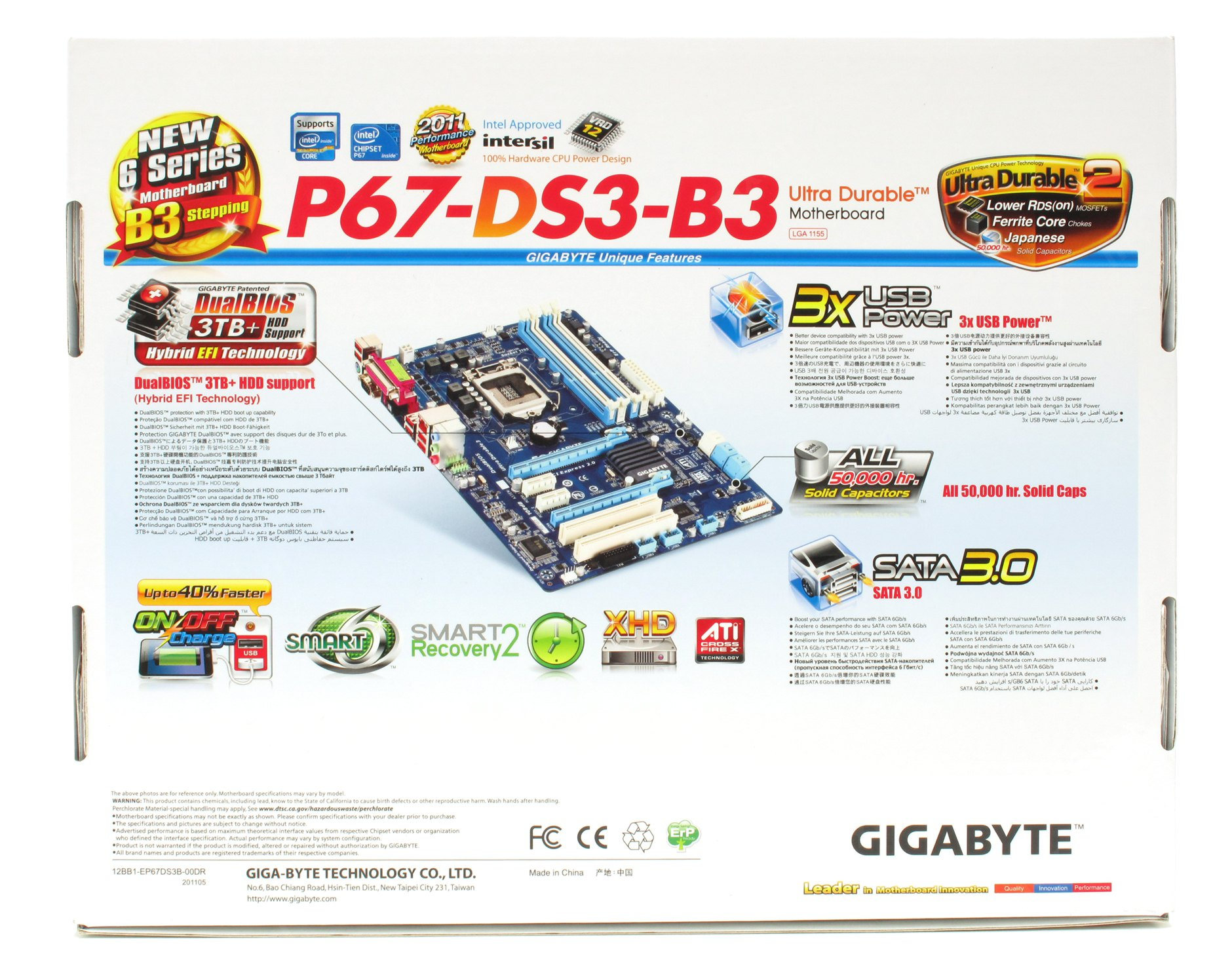 Gigabyte GA-P67-DS3-B3 3TB+ Windows 7