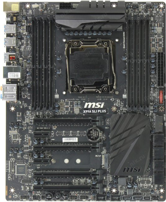 MSI GAMING X99A SLI Plus, вид сверху