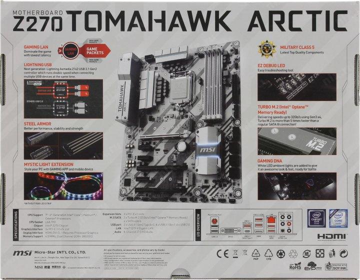 msi z270 tomahawk arctic manual