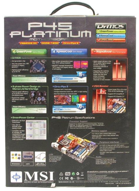 Msi p45 platinum инструкция