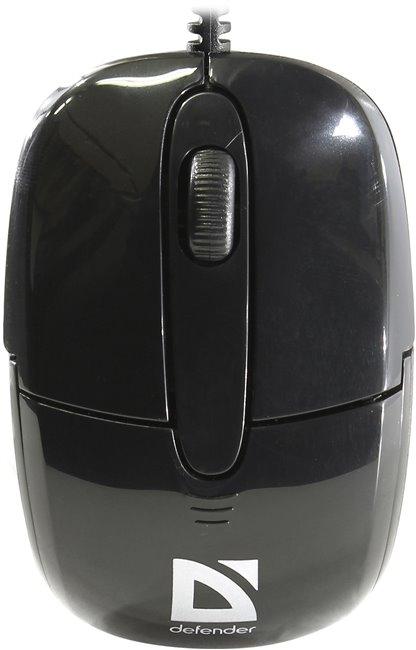 Defender Optimum MS-130 Black, вид сверху
