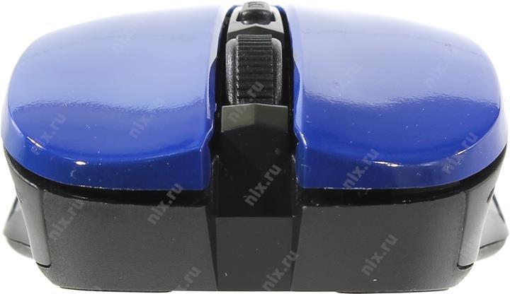 Манипулятор OKLICK Wireless Optical Mouse <545MW> <Black&Blue> (RTL) USB 4btn+Roll <368630>