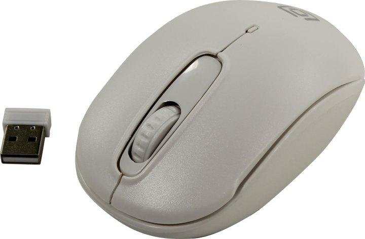 Манипулятор OKLICK Wireless Optical Mouse <505MW> <White> (RTL)USB 3btn+Roll <1018257>