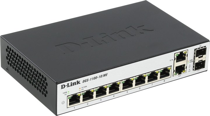 Коммутатор D-LINK DES-1210-08P/C1A/C2A управляемый 8 портов 10/100Mbps PoE