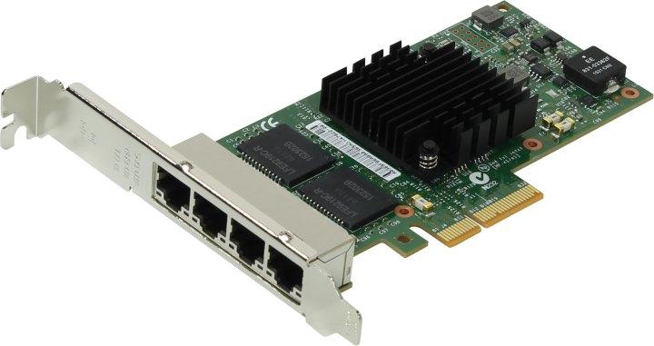 INTEL Ethernet Server Adapter I350-T4 V2 (I350T4BLK), вид основной
