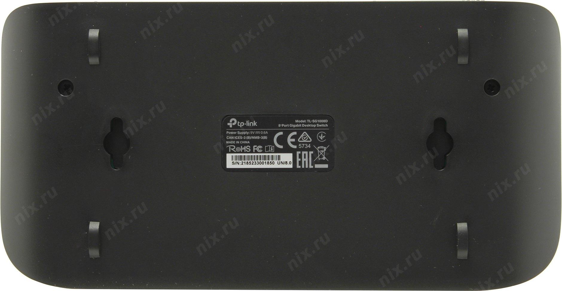 Tp Link Tl Sg1008d 8 X Rj45 Port Gigabit Desktop Switch