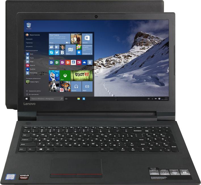 Lenovo V 110-15ISK, вид раскрытого ноутбука