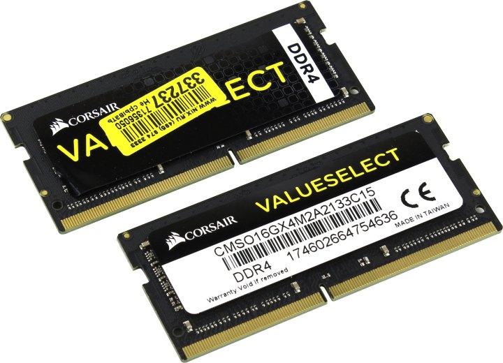 Corsair Value Select CMSO16GX4M2A2133C15, вид основной