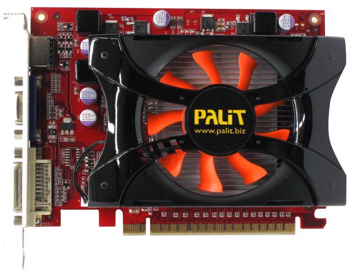 Palit GeForce<sup>®</sup>  GT 440 (512MB GDDR5), вид сверху