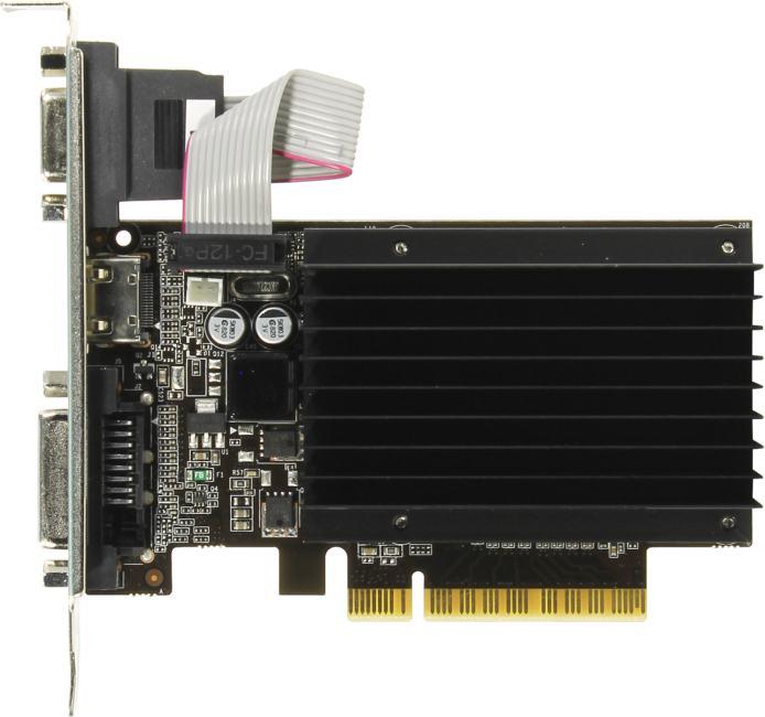 Palit GT710 1024M sDDR3 64bit, вид сверху