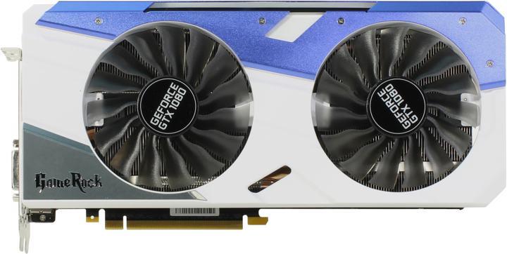 Palit GTX1080 GameRock Premium 8G GDDR5X, вид сверху